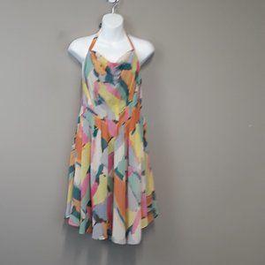 Rachel Roy Multi Color Halter Swing Dress Size 12